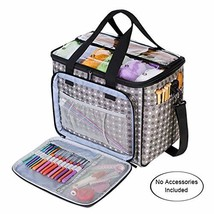 Teamoy Knitting Bag, Yarn Tote Organizer with Inner Divider Sewn to Bott... - $65.90
