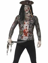 Zombie Pirate T-Shirt, Medium, Adult Fancy Dress Costumes, Mens - $28.95