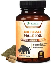 Natural Male XXL Pills Aids Natural Stamina, Strength & Mood for Men-Made in USA - $44.78+