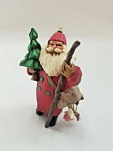 Hallmark Keepsake Ornament - Folk Art Americana - Making His Way Santa 1998 - $5.30