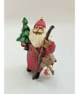 Hallmark Keepsake Ornament - Folk Art Americana - Making His Way Santa 1998 - $5.30