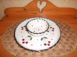 Beautiful Vintage Chapparal Pottery USA Snack Platter *EVC* - $17.81
