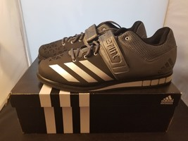 NIB Adidas Powerlift. 3 Size 15 US Black & Silver Colorway Weightlifting... - $50.87