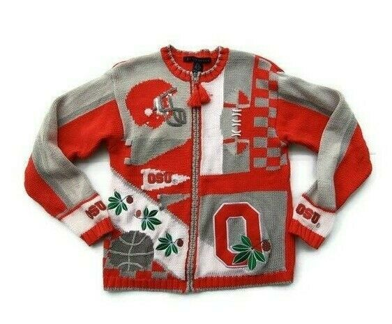 Primary image for Birch Brothers vintage 1980's Ohio State Buckeyes college zip up sweater sz S