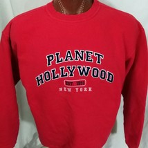 Planet Hollywood New York Red Sweatshirt 100% Cotton L Large - $24.89