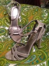 Bcbg Paris Women's Gray Suede Shoes Ankle Strap Sandals Strappy Heels Size 6.5M - $24.74
