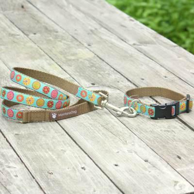 The Five Spot Jacquard Adjustable Dog Collar / Made in Japan