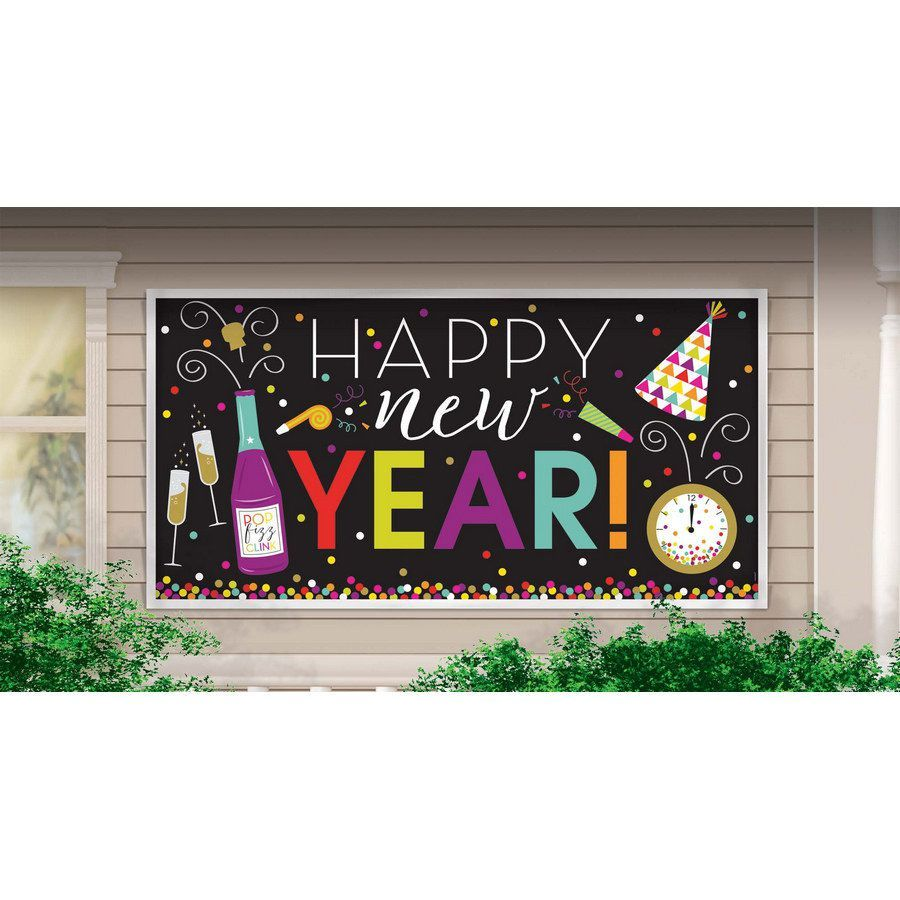 Amscan New Year's Banner Large Colorful Banner Happy New Year - $23.04