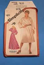 1990's VTG Simplicity Pattern Misses' Pullover Dolman Sleeve Dress 5776 ... - $11.63