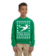 Kids Youth Sweatshirt Jingle Balls Soccer Ugly Xmas Sport Fans Top - $28.94