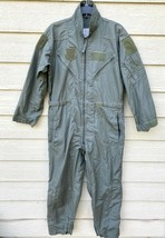 Genuine Us Air Force Usaf Nomex Fire Resistant Flight Suit Green CWU-27/P - 42S - $44.55
