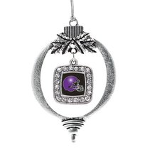 Inspired Silver Black and Purple Team Helmet Classic Holiday Decoration Christma - $14.69