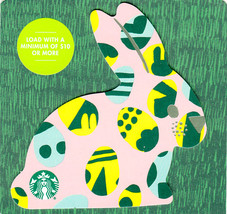 Starbucks 2020 Easter Pink Bunny Collectible Gift Card New No Value - $1.99