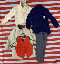 Vintage RALLY DAY #788 Barbie Ken Doll Trench Coat Vest Shirt Pants Extr... - $71.24