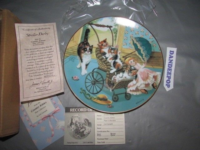 Stroller Derby Gré Gerardi Country Kittens Ltd Ed. Collector Plate 1988 Hamilton