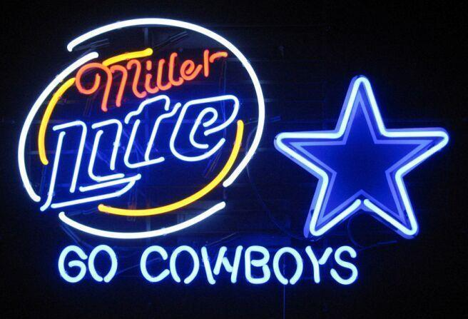 "New Dallas Cowboys NFL Go Cowboys Neon Sign 24""x20"" Ship From USA"
