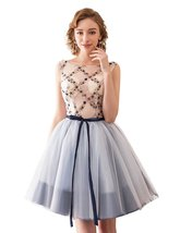 Women's Short Tulle Beading Homecoming Dresses 2018 Prom Party Gowns wit... - $105.99