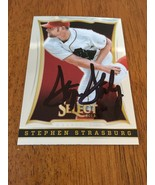 2013 SELECT STEPHEN STRASBURG HAND SIGNED AUTOGRAPHED AUTO CARD NATIONAL... - $37.25