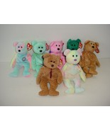 Lot of 7 Ty Bears Beanie Baby Babies Plush 1996 to 2000 - $19.70