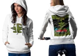 Cannabis Sativa Womens White Classic Hoodie - $30.99+