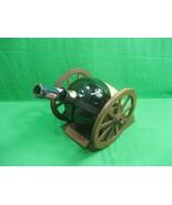 Courvoisier Cognac Wood Cannon Cognac Fine Champagne Bottle Empty Vintage - $48.58