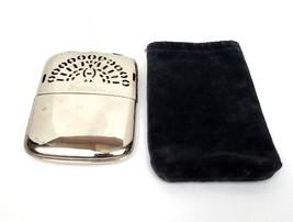 Peacock Hand Warmer Vtg Mikado Heater Occupied Japan Velvet Pouch 1940s ... - $11.95