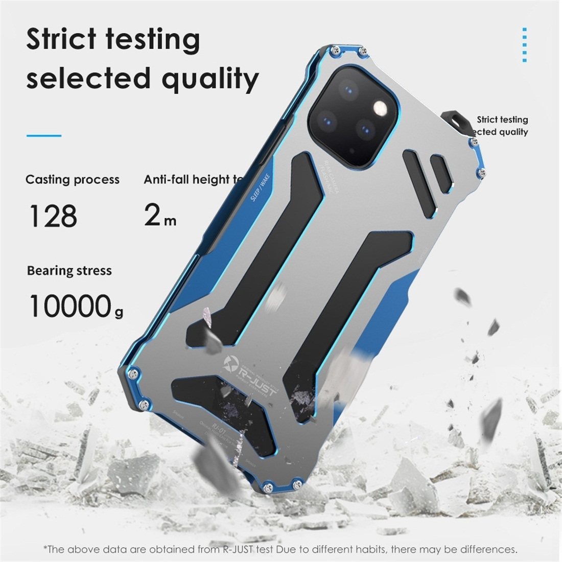 R-JUST Shockproof Armor Metal Case for iPhone 11 Pro Max image 4