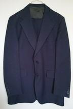 JCPenny Contemporary Classics Suit 3-Piece Jacket Vest Pants Blue Striped - $35.45