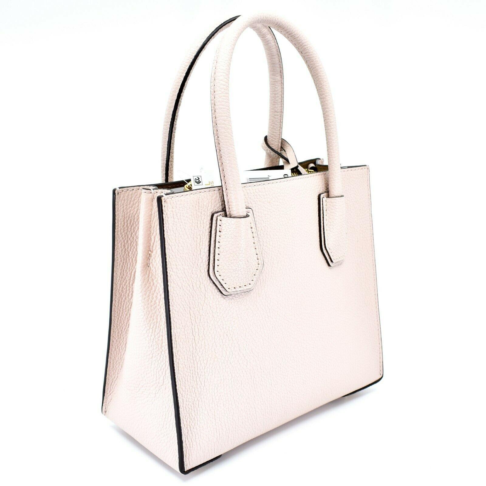 Michael Kors Mercer Soft Pink Pebbled Leather Medium Crossbody Messenger Bag image 3