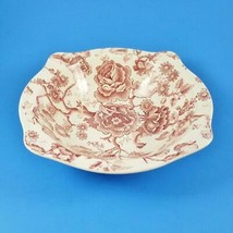 """Johnson Brothers English Chippendale Serving Bowl 8.5"""" Pink Red England - $29.99"""