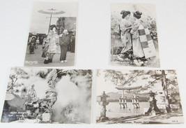 4 KODAK RPPC JAPAN POSTCARDS GEISHA & MAIKO, WOMAN OF GAY QUARTER -C1 - $19.99