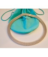 Tiffany & Co Estate Sterling Silver Somerset Mesh Wide Link Necklace - $643.50