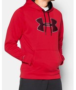 Under Armour 1259632 Cold Gear STORM Water Resistant Red Gray L Hoodie - $43.99
