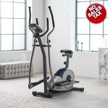 Elliptical Dual Trainer with Seat Exercise Bike Workout Home Gym Machine... - $245.95