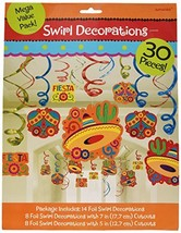 Cinco De Mayo Fiesta Foil Swirls Mega Value Pack   Party Decoration - $15.10