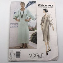 Issey Miyake Vogue Sewing Pattern 2315 Semi Fitted Dress Large 16 18 Unc... - $93.06