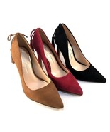 Jessica Simpson Centella Canela Brown Suede Leather Pointy Dress Pumps - $55.30