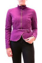 Diesel Women's Unique De-Pafur Long Sleeve Jacket Purple Size S RRP £300... - $273.81