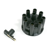8-Cylinder Pro Billet & R2R Distributor Cap & Rotor Kit Female Cap Black - $19.79