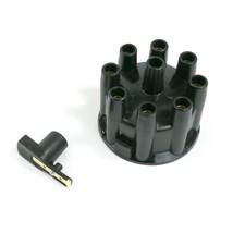 A-Team Performance 8-Cylinder Pro Billet & R2R Cap & Rotor Kit Female Cap BLACK
