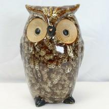 """Farmhouse Brown Owl Vase Elegant Expressions Ceramic Figurine 8.5"""" - $12.25"""