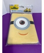 """Minions Plush Journal 5""""x7"""" Blank Pages Velcro Closure New Sealed - $6.92"""