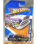 2011 Hot Wheels #91 Heat Fleet 1/10 CUSTOM '53 CHEVY Purple Variant w/Ch... - $9.50