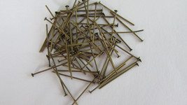 "50 - 1 "" Bronze Brown Color Pins Chandelier Lamp Bead Prism Crystal Conn... - $3.13"