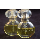 2 ESTEE LAUDER PERFUME INTUITION .14 oz Spray 50% & 80% left in bottles - $17.81
