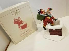 Santa Chimney Figurine Limited Ed RARE Special Delivery Chimney HALLMARK... - $55.85