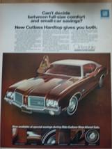 Vintage Cutlass Hardtop Oldsmobile Print Magazine Advertisement 1971 - $6.99