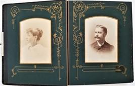 antique PHOTO ALBUM genealogy SOMMERMAN McWILLIAMS FISHER WEGEBERNER ECK... - $295.00