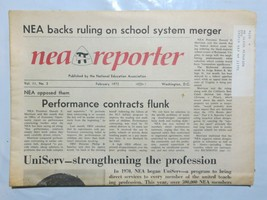 Nea Reporter 1972 February Performance Contracts Flunk UniServ Strength N2 - $39.99