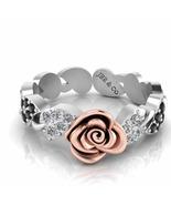 Jbr Alternative Leaf Design Flower Sterling Silver Ring - $96.19